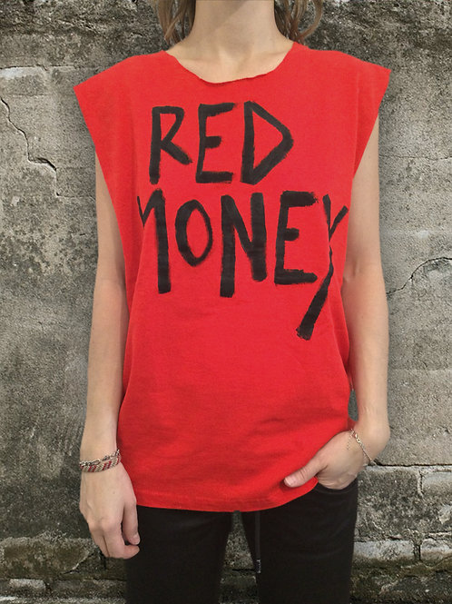 T-Shirt Red Punk for Woman