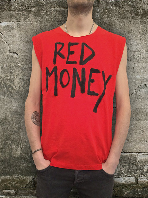 T-Shirt Red Punk for Man