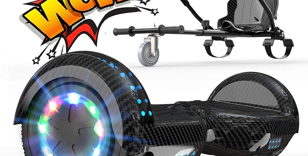 6.5'' Electric Scooter with Hoverkart  LED lights Bluetooth Speaker