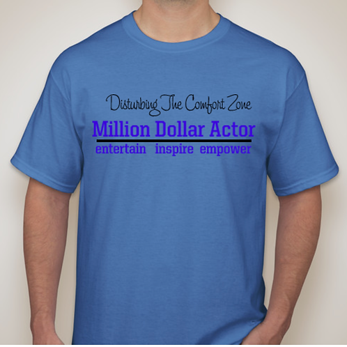 Million Dollar Actor PowderBlu T in Blue Print