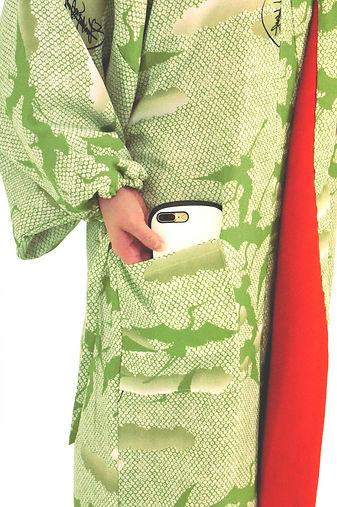 仕立屋甚五郎 業界初 フリースコート アウター フリース ポケット付き