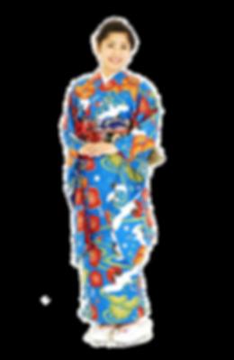 衿つき振袖 仕立屋甚五郎 鶴 青 一人で着れる
