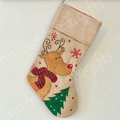 CS Hessian Reindeer Tree