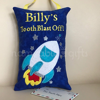 Blast Off! Tooth Fairy Pillow