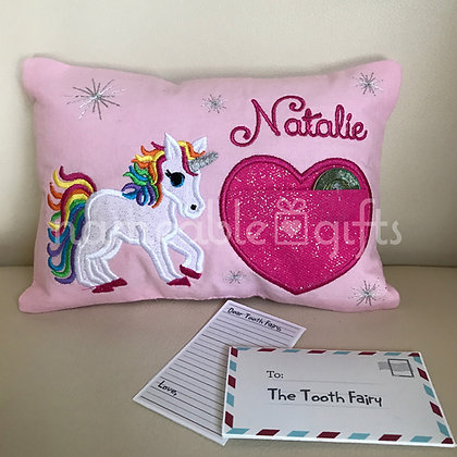 Unicorn Tooth Fairy Pillow
