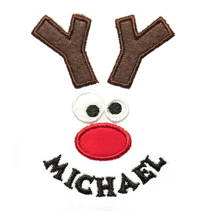 Reindeer Smiley Name