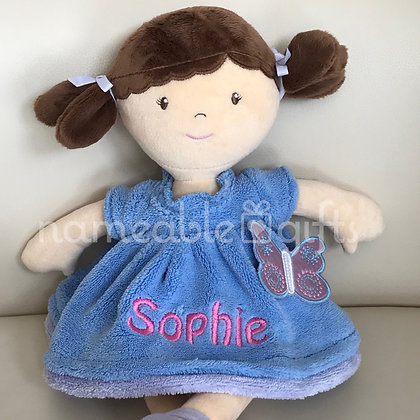 Butterfly Blue Dress Doll