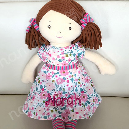 Dark/Reddish Brown Flower Doll