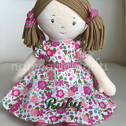 Light Brown Flower Doll