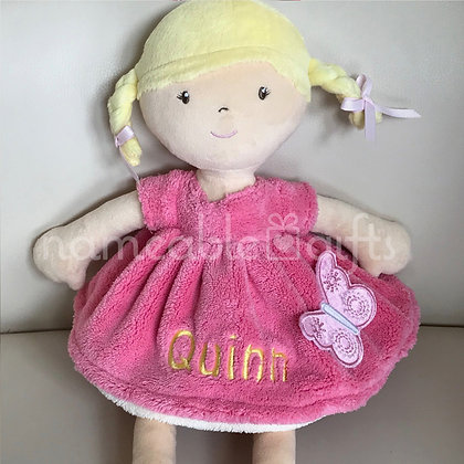 Butterfly Pink Dress Doll