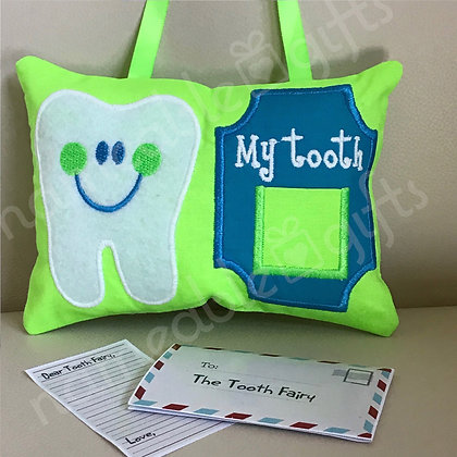 Tooth Fairy Pillow with Framed Pocket