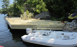 Dock On A Rock for a 34' Trawler