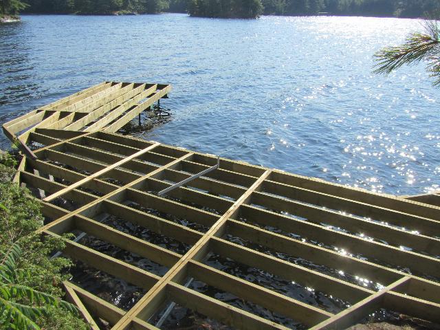 Shoreline Dock Framing