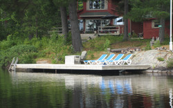 Dock On A Rock, Pickeral River, Ont.