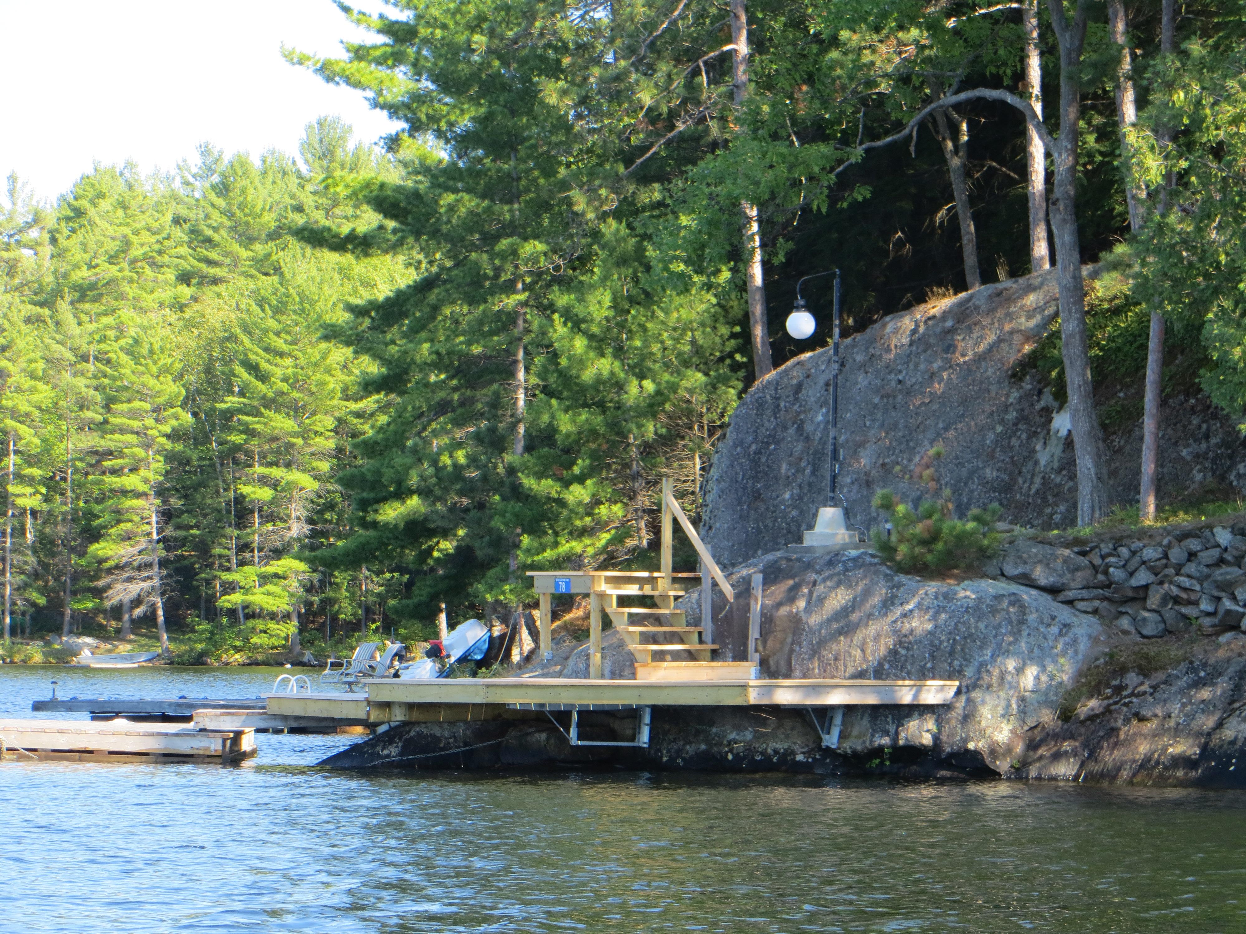Completed DIY Cantilevered Dock