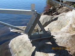 Dock On A Rock long Arms with Height Adjustment Bracket