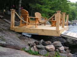 Cantilevered Shoreline Deck