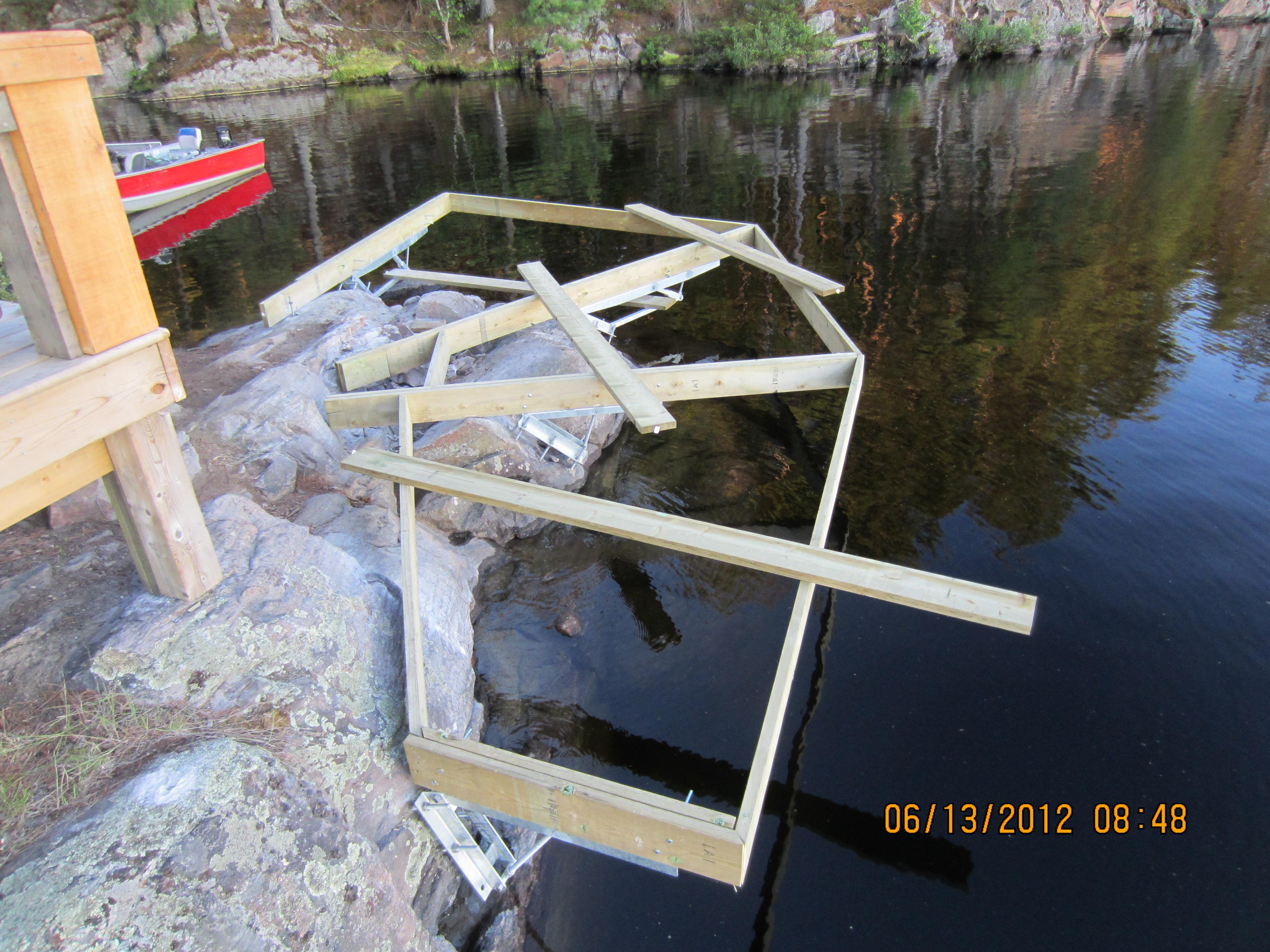 DIY Dock On A Rock Installation