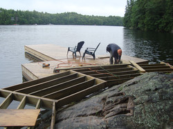 Dock On A Rock Framing