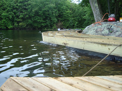Dock On A Rock Cantilevered Dock