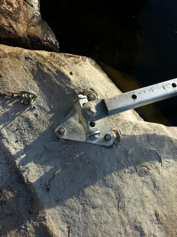 Shore Bracket for Dock Strong Arms