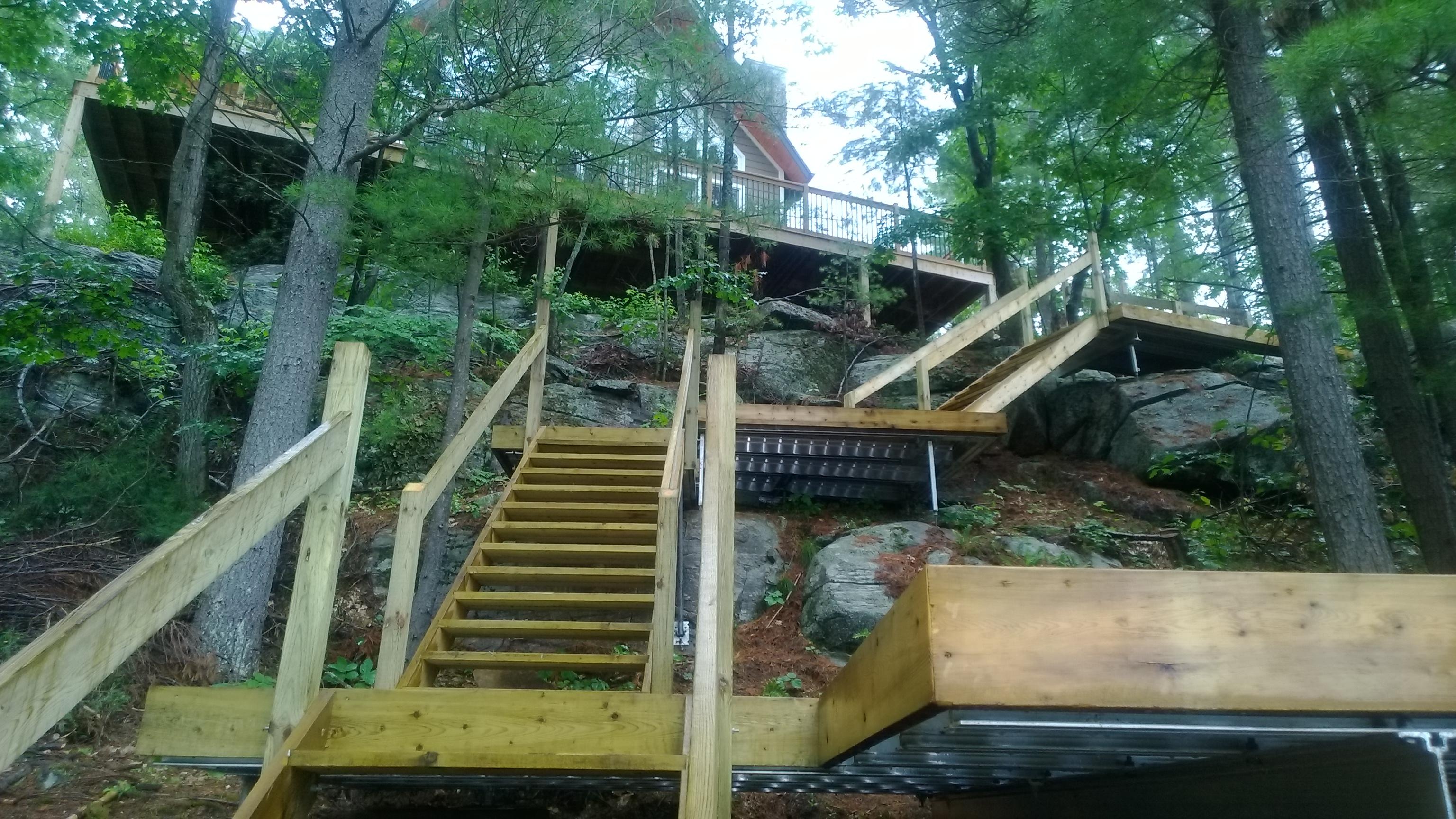 Alum Framed Stair Landings