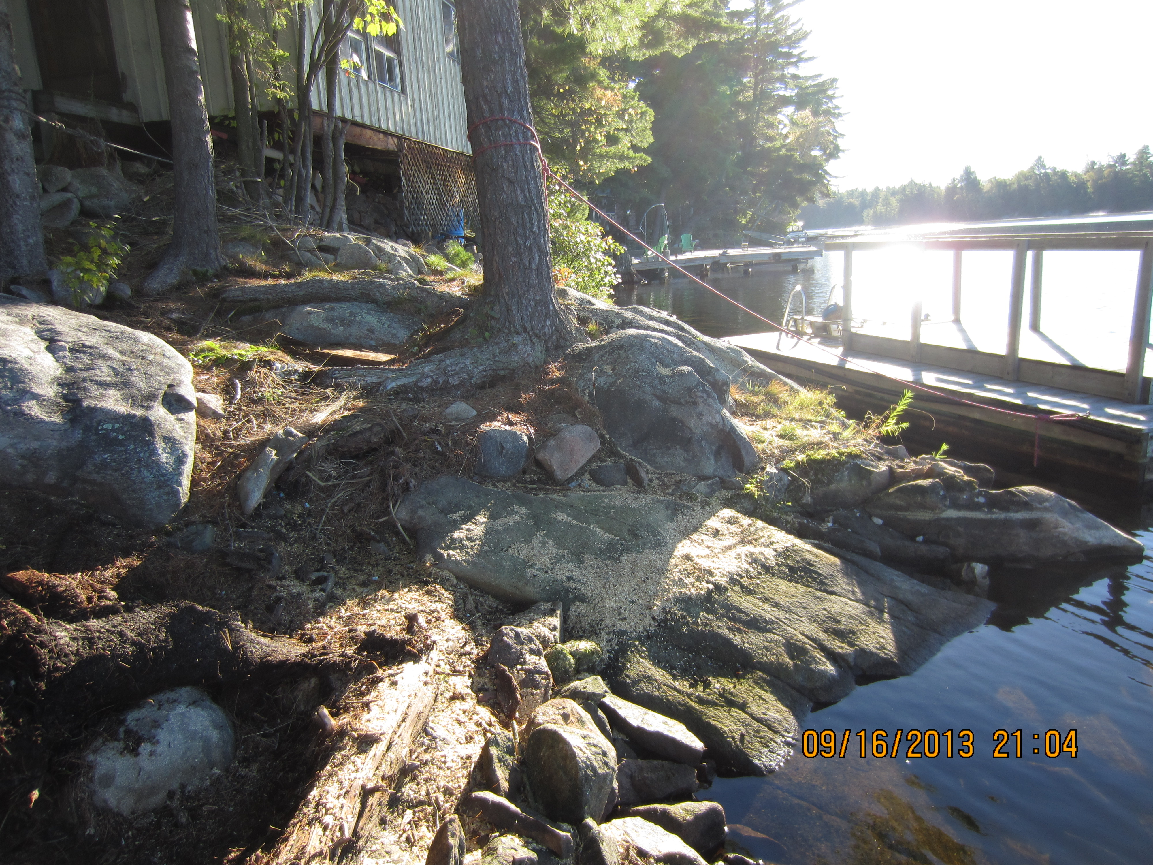 Unuseable Rocky Shoreline