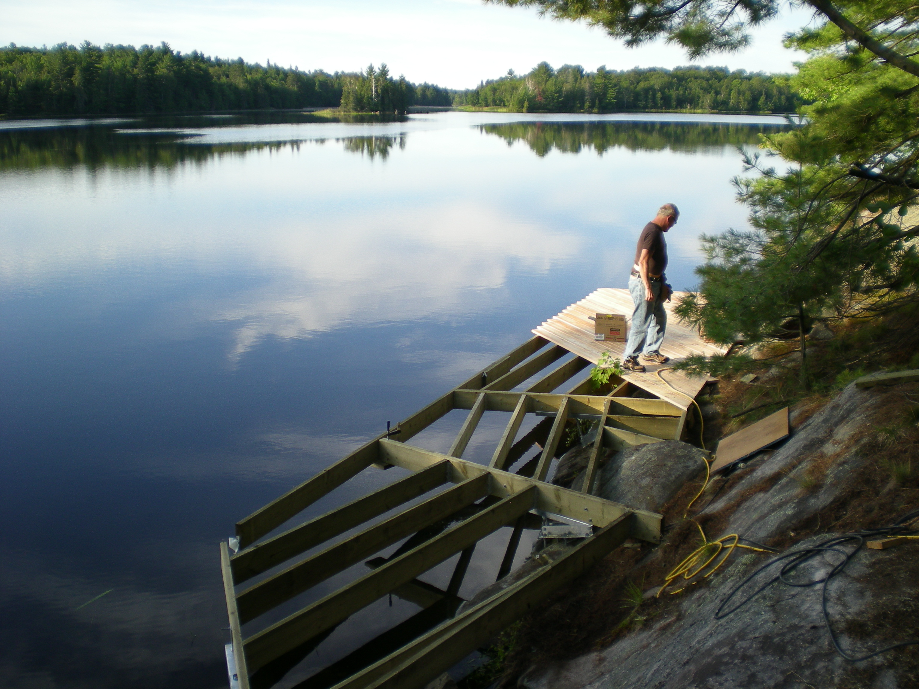 Smith Bay Framing On Dock on A Rock