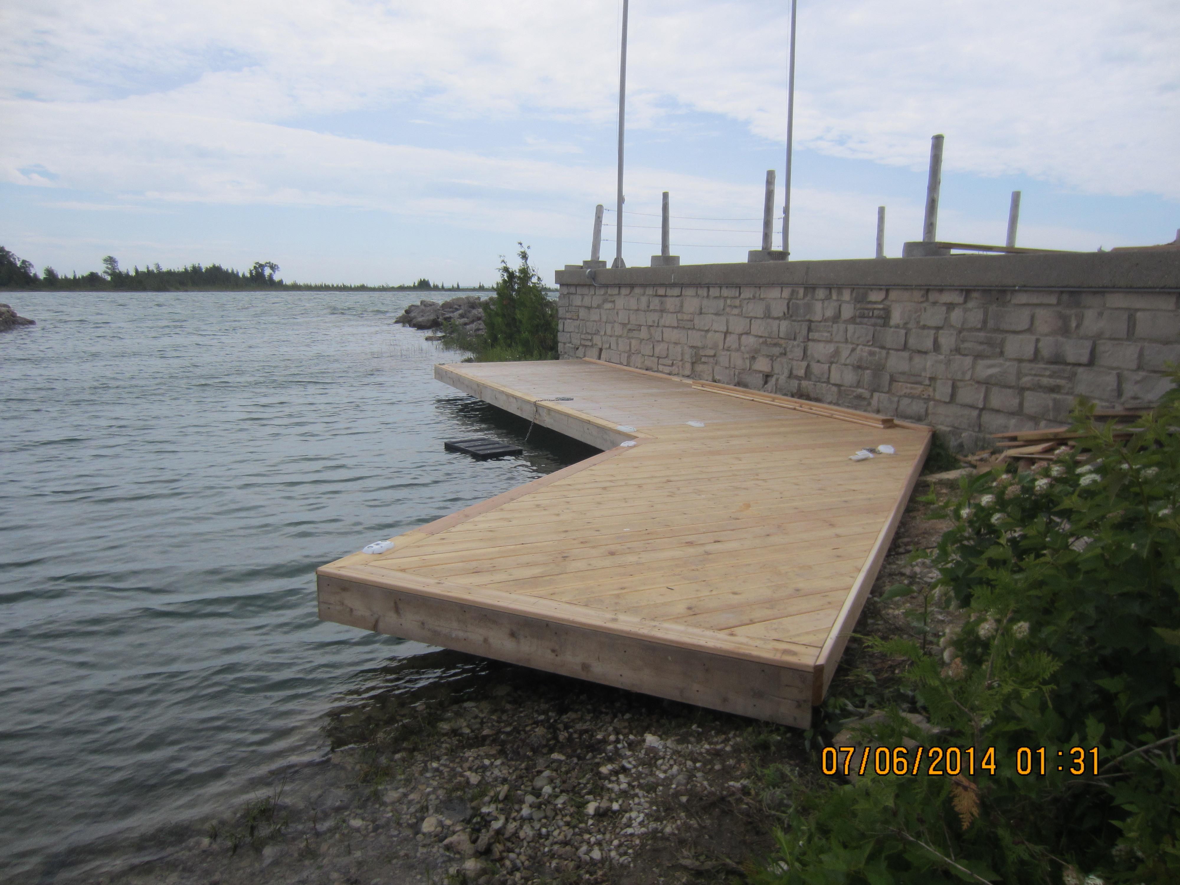 Custom shoreline dock