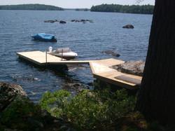 Dock On A Rock In Nova Scotia