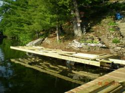 Framing On Dock On A Rock Brackets