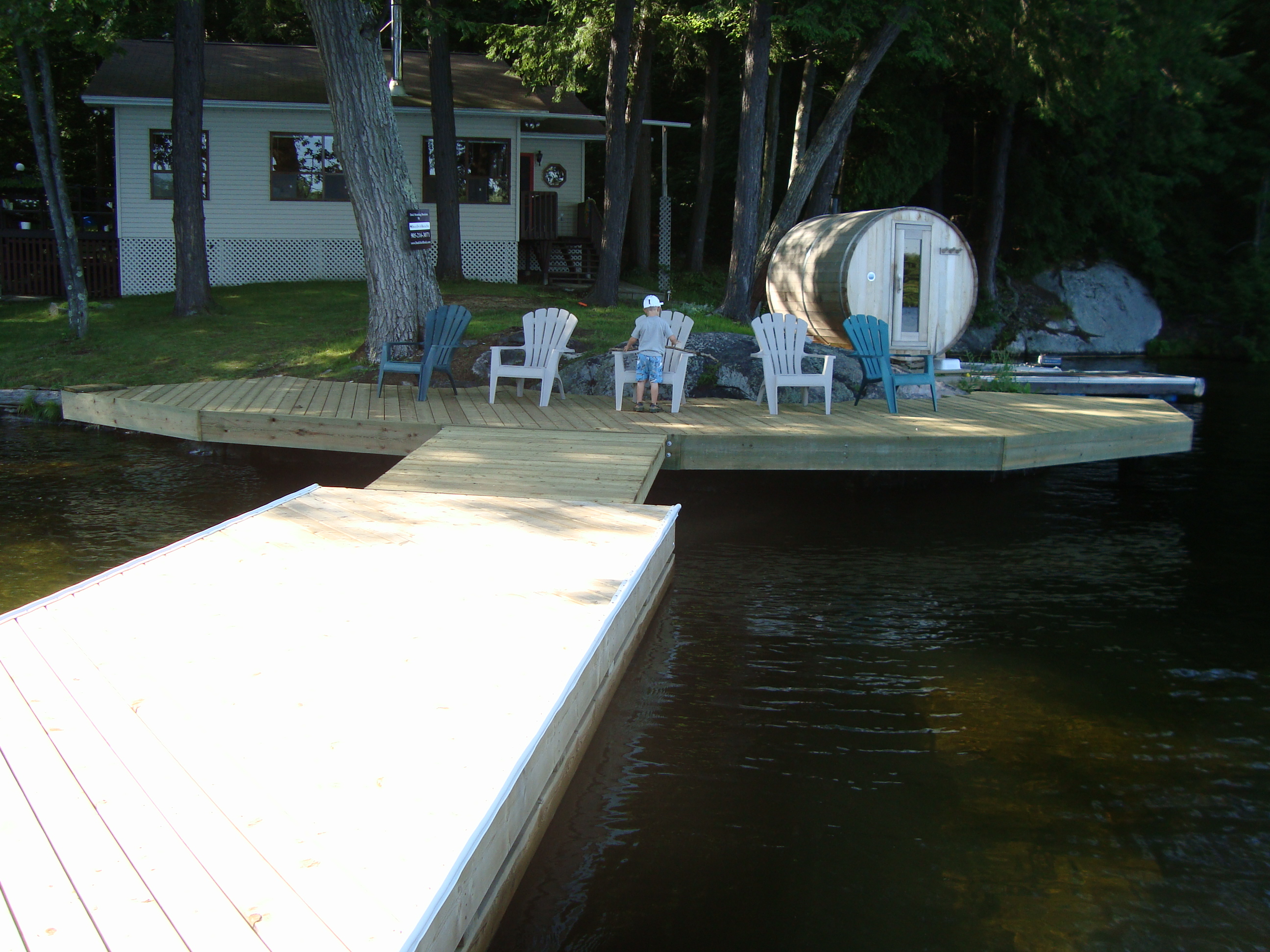 Dock On A Rock, from the Floater