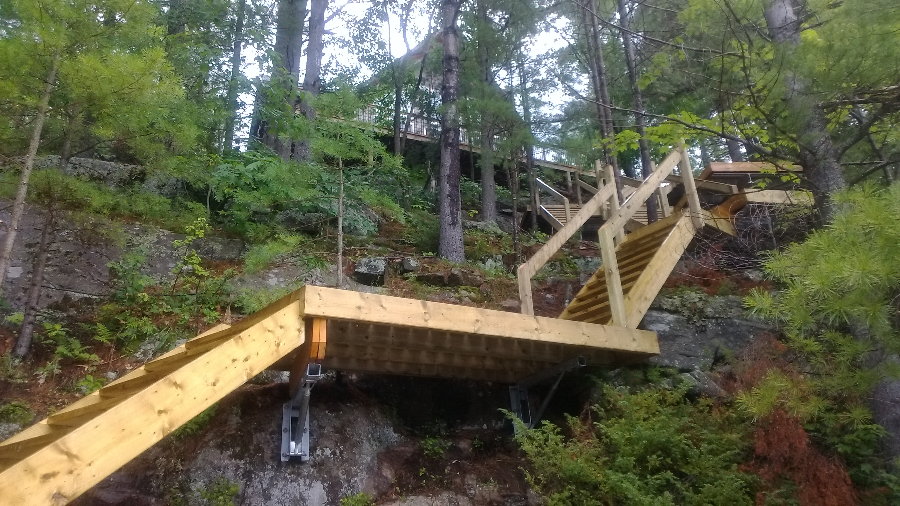Dock On A Rock, Staircase