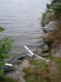 Smith Bay Dock On A Rock Install