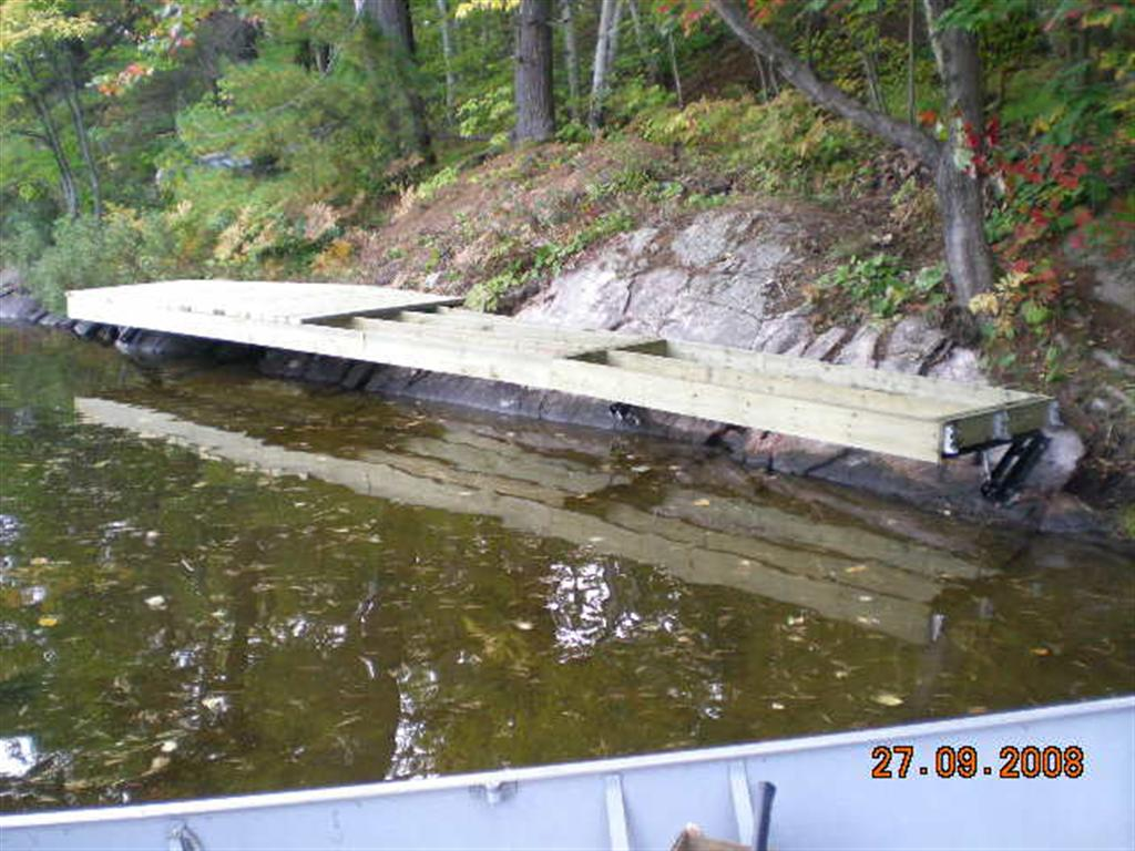 Dock On A Rock Bracket Framing