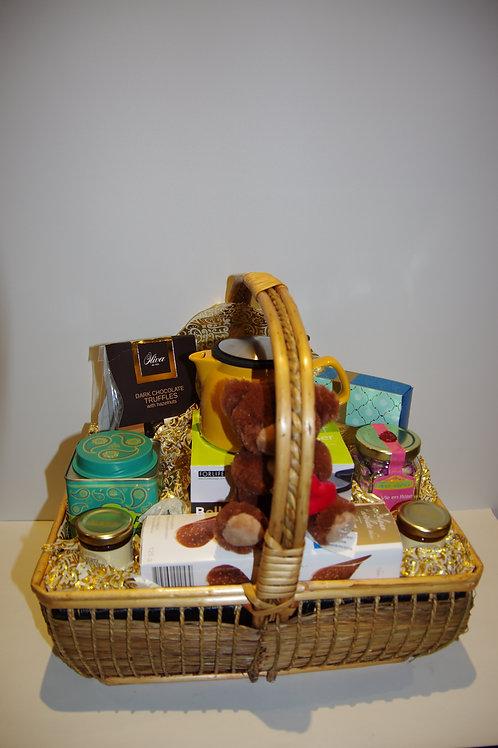 Golden Basket (Handwoven Bamboo Basket)