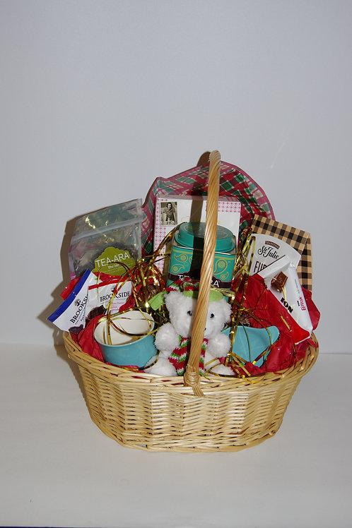 Christmas Themed Handwoven Basket
