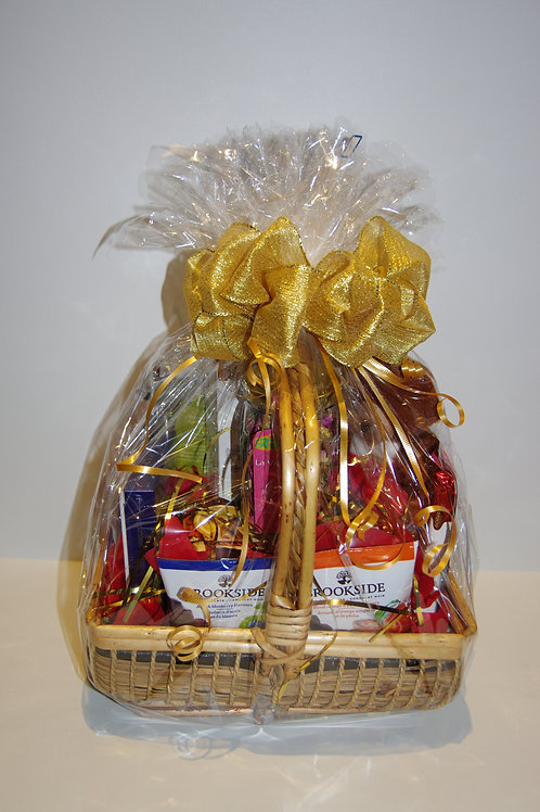 Golden Small Artisan Handwoven Basket