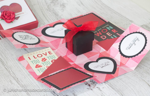 Red Valentine S Day Exploding Box Card