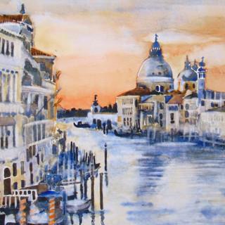 Venice in orange & blue