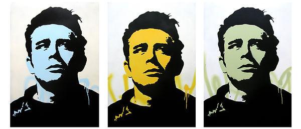 James Dean CUT 1-3 each 100 cm x 70 cm_fine cardboard paper 300 gm²_2019