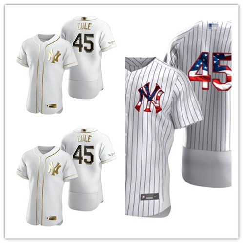 Men Gerrit Cole White Golden, Stars/Stripes