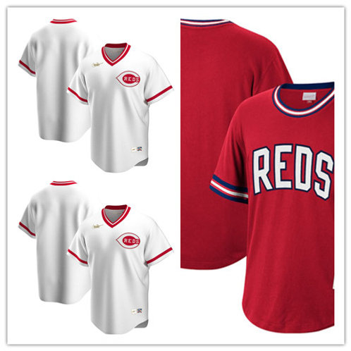 Men Blank Cooperstown White, Scarlet