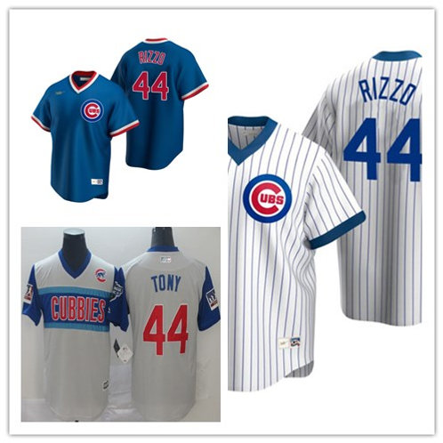 Men Anthony Rizzo Cooperstown White, Royal Blue, Gray