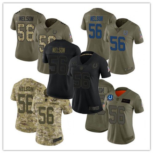 Women Quenton Nelson Limited Salute to Service Olive, Camo, Black