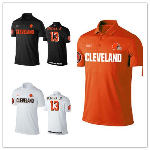 Men Odell Beckham Jr. Shirt Polo Orange, White, Black