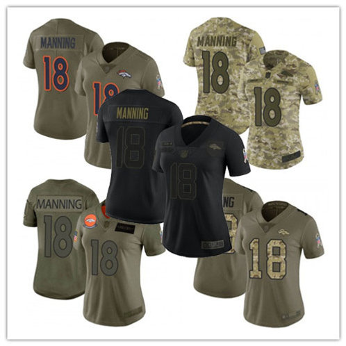 Women Peyton Manning Limited Salute to Service Olive, Camo, Black