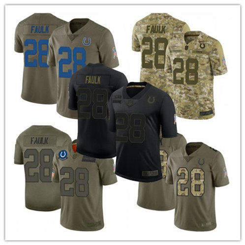 Youth Marshall Faulk Limited Salute to Service Olive, Camo, Black