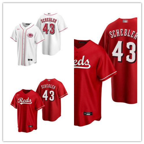 Youth Scott Schebler 2020/21 Replica White, Scarlet