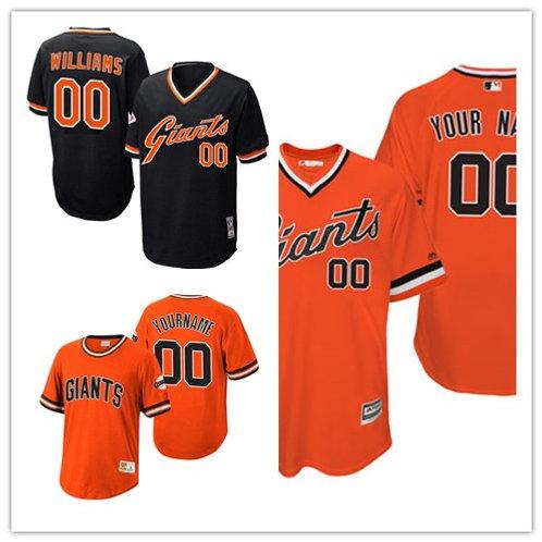 Men Custom Cooperstown Black, Orange